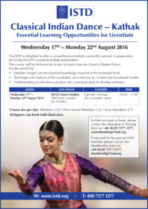 Kathak Licentiate course 2016 pic